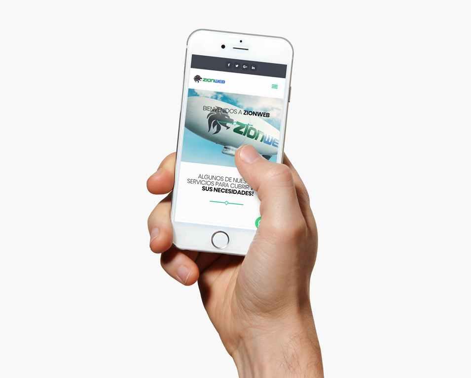 Diseño web adaptativo a celulares ZionWeb